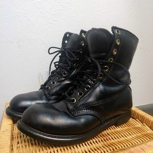 Military Issued Black Combat Lace Up Boots Size 6